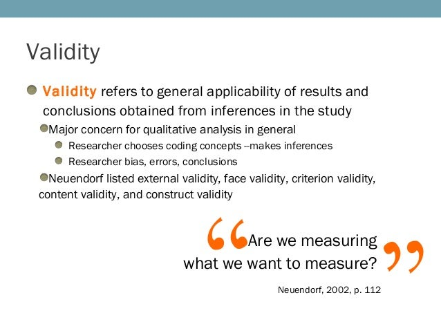 validity reliability and applicability in quantitative research