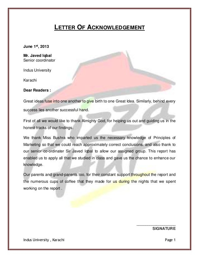 application letter for a position in a fast food