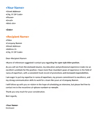 cover letter for unsolicited job application