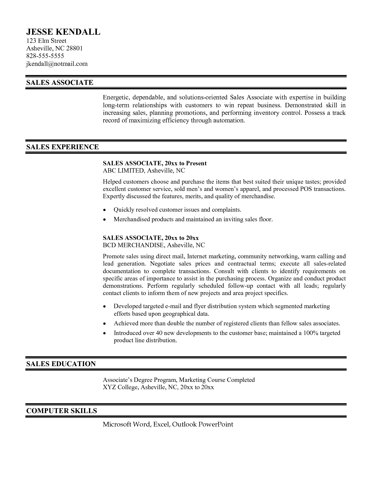 sample resume for abroad application
