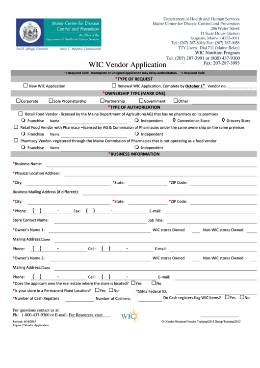 department of human services application