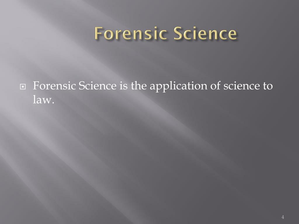 application of science to law