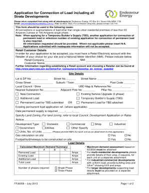 endeavour energy application for connection forms