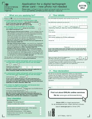 over 70 driving licence application form